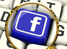 Facebook Key Magnified Means Connect To Face Book